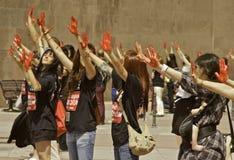 Het Protest van het stierenvechten Royalty-vrije Stock Afbeelding