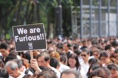 Het Protest van Hongkong over de Sterfgevallen van de Gijzelaar van Manilla Royalty-vrije Stock Foto