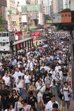 Het Protest van Hongkong over de Sterfgevallen van de Gijzelaar van Manilla Stock Afbeeldingen