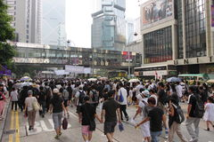 Het Protest van Hongkong over de Sterfgevallen van de Gijzelaar van Manilla Stock Fotografie