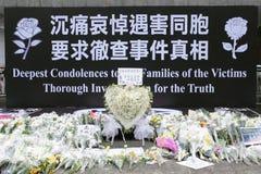 Het Protest van Hongkong over de Sterfgevallen van de Gijzelaar van Manilla Stock Afbeelding