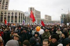 Het protest van Moskou, 24 December 2011 Royalty-vrije Stock Afbeeldingen