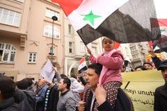 Het Protest van Syrië Royalty-vrije Stock Afbeelding