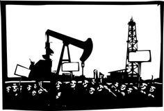 Het protesteren Fracking Boring Royalty-vrije Stock Foto