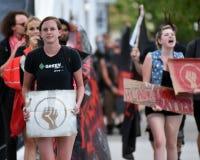 Het protesteren op Calhoun-Straat royalty-vrije stock afbeeldingen