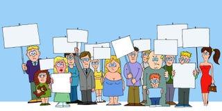Het protesteren van mensen Royalty-vrije Stock Afbeelding