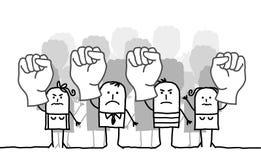 Het protesteren van mensen Stock Afbeelding