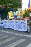 Het protesteren voor Rosia Montana Royalty-vrije Stock Afbeelding