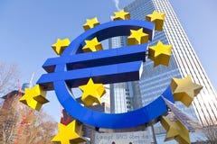 Het protestkamp van de Occupy Frankfurt beweging in Europa Stock Foto