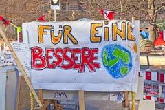 Het protestkamp van Occupy Royalty-vrije Stock Afbeeldingen
