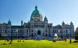 Het provinciale Hoofd Wetgevende Groene Gras Victoria Br van Buildiing Royalty-vrije Stock Foto's
