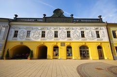Het Provinciehuis, Spisska Nova Ves, Slowakije Stock Foto's
