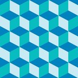 Het psychedelische patroon mengde blauw Stock Fotografie