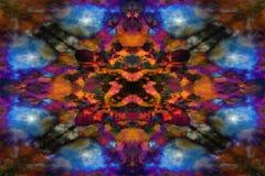 Het psychedelische patroon van de caleidoscoopwolk stock illustratie