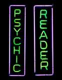 Het psychische Teken van het Neon Stock Foto