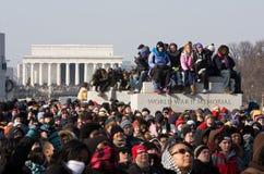 Het publiek let op Inaugureel stock foto