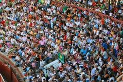 Het publiek van het stierenvechtengebied in Huelva Royalty-vrije Stock Foto