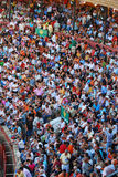 Het publiek van het stierenvechtengebied in Spanje Royalty-vrije Stock Foto