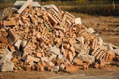 Het Puin van de bouw stock foto