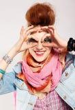 Het punkmeisje van Glam Stock Afbeelding