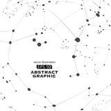 Het punt en de lijn construeerden de technologische betekenis abstracte illustratie royalty-vrije illustratie