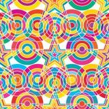 Het punt kleurrijk wit van de stercirkel naadloos patroon als achtergrond vector illustratie