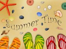 Het punt van de de zomerinzameling voor de zomertijd bij het strand! Royalty-vrije Stock Afbeeldingen