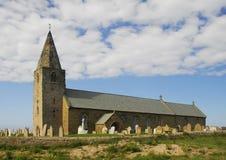 Het Punt van de kerk, Newbiggin door het Overzees Stock Fotografie