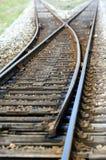 Het punt van de spoorweg stock foto's