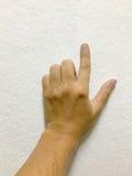 Het punt van de vinger op witte achtergrond Royalty-vrije Stock Afbeeldingen