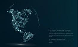 Het Punt van de wereldkaart Kaarten van de beeldspraak van NASA Vector illustratie Samenstelling, die de Globale Netwerkverbindin royalty-vrije illustratie