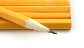 Het punt van het potlood Stock Foto's