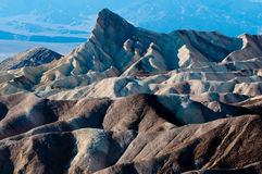 Het punt van Zabriske, het Nationale Park van de Vallei van de Dood Stock Foto