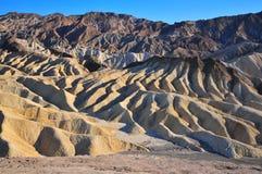 Het Punt van Zabriskie in de Vallei van de Dood, Californië Royalty-vrije Stock Foto