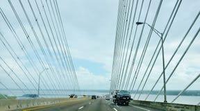 Het puntbrug van Jacksonville de V.S. van de staat van Florida dames stock foto