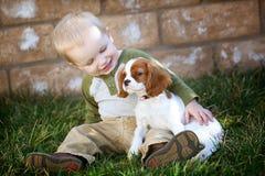 Het puppy van de holding royalty-vrije stock afbeeldingen