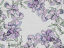 Het purpere BloemenFrame van Patronen vector illustratie