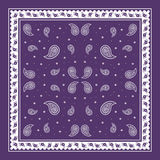 Het purpere eenvoudige patroon van Paisley Bandana Stock Afbeelding