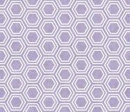Het purpere en Witte Hexagon Tegelpatroon herhaalt Achtergrond stock foto's