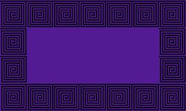 Het purpere en Zwarte naadloze patroon van de Kader Oude Griekse meander, simplistische zwarte historische achtergrond Geometrisc vector illustratie