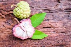 Het purpere fruit van de vlaappel Stock Fotografie