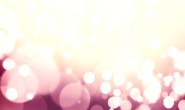 Het purpere gekleurde abstracte glanzende licht en schittert achtergrond Royalty-vrije Stock Fotografie