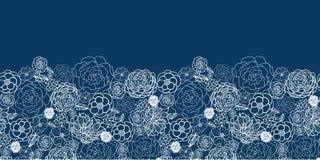 Het purpere kant bloeit horizontaal naadloos patroon Royalty-vrije Stock Afbeeldingen