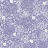 Het purpere kant bloeit naadloze patroonachtergrond Royalty-vrije Stock Foto