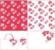 Het purpere patroon van de bloem Stock Fotografie