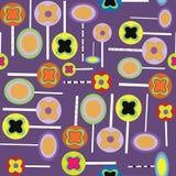 Het purpere patroon van Halloween lollypops vector illustratie