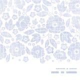 Het purpere textiel horizontale kader van de bloementextuur Stock Fotografie