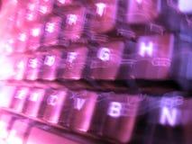 Het purpere/Violette Onduidelijke beeld van het Toetsenbord Stock Afbeeldingen