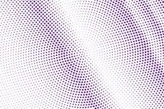 Het purpere wit stippelde halftone Halftone achtergrond Diagonale langzaam verdwenen gestippelde gradiënt vector illustratie