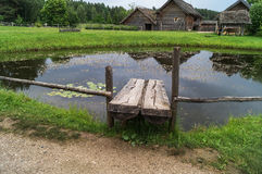 Het Pushkin-dorpspark, Bloederige Pushkinskiye, Rusland Stock Foto